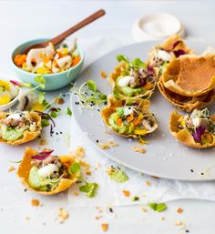 Try this amazing recipe for Wonton Cups with Tuna Tartare, Avo and Wasabi Mayonnaise. totally delish and healthy too!