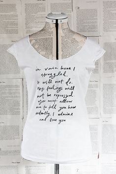 Mr. Darcy Proposal scoop neck t shirt. $22.00, via Etsy. How could you NOT love this?