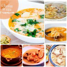 Recetas de sopa.Las 6 recetas de sopa que os traemos hoy son sin duda algunas de las más populares: sopa de ajo, sopa de cebolla.Recetas de sopa.El invierno