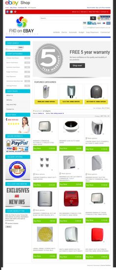 Take a look at this amazing #TOPSHOP #eBayShopDesign for FHD Online #ElectricHandDryersStore UK Supplier!...  Visit here: http://stores.ebay.co.uk/handdryers-fhd/