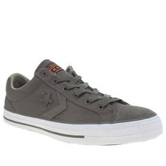 mens dark khaki converse star player rip stop trainers