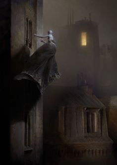 Knocker at the Window / Dishonored 2, Piotr Jabłoński on ArtStation at https://www.artstation.com/artwork/adVLX