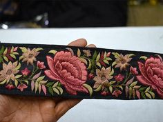 Amaranth Red Saree Ribbon Embroidered Fabric Trim and Embellishment Indian Trim By The Yard Silk Sari Border Decorative Sewing Crafting Embroidery Fabric, Beaded Embroidery, Embroidery Designs, Red Saree, Saree Dress, Sari, Indian Fabric, Silk Fabric, Embroidery Suits Punjabi