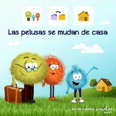 Cuentos con pictogramas #TEA ACNEAE LAS PELUSAS SE MUDAN DE CASA 1