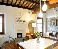 Living Room B&B Stop and Sleep Udine Fagagna On The Hills #art #decor #home #design #interior #italy #fireplace