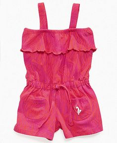 ruffle top romper by Baby Phat @ Macy's Ruffle Romper, Baby Girl Romper, Ruffle Top, Baby Girls, Kimora Lee Simmons, Baby Phat, Kids Fashion, Jumpsuit, Rompers