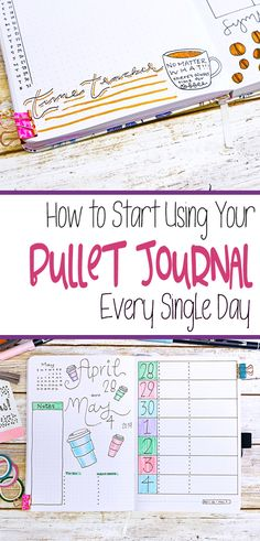 Get in the bullet journal habit with this 14 easy steps to make bullet journaling part of your daily routine. Learn how easy it is to start and keep a bullet journal with these time management and productivity hacks!