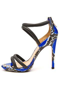 de4d660b884 Aquazzura black and blue python d orsay