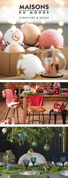 It's beginning to feel a lot like Christmas... Make this year extra special and shake up your festive décor with our show-stopping collections. Whether you refresh your entire look each year or simply update it with a few key pieces, with sackfuls of decorations to suit every taste, we're sure you'll fall in love with our new collections | Maisons du Monde