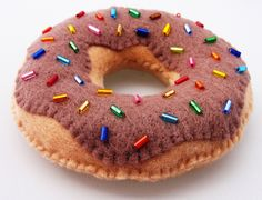 Yummy Chocolate Diet Donut - Felt Magnet. $12.50, via Etsy.