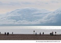 The Tsunami Cloud – perfectly timed – An amazing force of nature for those who see it to enjoy. | Perfectly Timed Pics