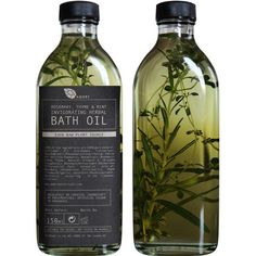 AMBRE BOTANICALS - Rosemary, Thyme & Mint Invigorating Herbal Bath Oil ($26) ❤ liked on Polyvore featuring beauty products, bath & body products, body cleansers, fillers, beauty, makeup, food, home and ambre