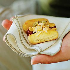 Baby Ballpark Dogs Recipe Appetizers with cooking oil, butter, all-purpose flour, large eggs, franks, yellow mustard, shredded cheddar cheese, pickle relish