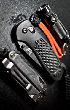 Benchmade - Mini Griptilian 556 EDC Knife, Plain Drop-Point, Black Glass-Filled Nylon Handle, Coated Finish