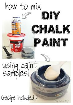 Learn how easy it is to mix DIY chalk paint using paint samples! | diy beautify