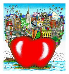 """Balloons and Butterflies Over New York12.5"""" x 15.5"""""""