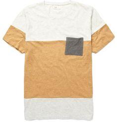 FolkContrast Stripe Cotton T-shirt|MR PORTER