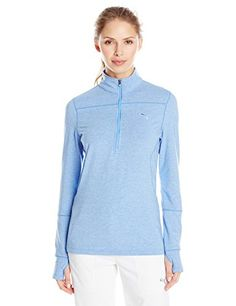 Puma Golf Womens 12 Zip Long Sleeve Top Ultramarine Medium *** Check out the image by visiting the link. Note:It is Affiliate Link to Amazon.