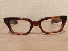 e5af3dbbf21 Vintage Eyeglass Frames 6 Barrel Hinge Amber Paddle Arms Killer! Barrel  Hinges