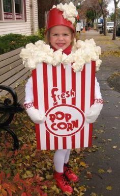 Popcorn Costume. Add coke, hot dog, and milk duds...