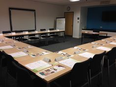 Business & Technology Centre meeting room all set up for a Ready Set Grow, starting in business seminar