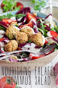 Nourishing Falafel Hummus Winter Salad | Dear Kitchen | #vegan #salas #falafel #hummus #detox #diet