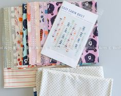 Cozy Cabin Quilt Kit - Cotton + Steel Collection