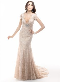 Madrid - by Maggie Sottero :: 1920's art deco great gatsby wedding dress