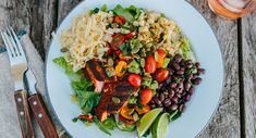 Grilled Salmon Taco Salad Recipe - Tillamook