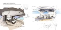 This is a super yacht concept. Cercio is the Award Winning design of Young Designer of the Year 2016 Competition. Yacht Design, Boat Design, Boat Sketch, Weather Crafts, Interior Sketch, Interior Design, Yacht Interior, Yacht Boat, Young Designers
