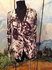 ✯✽ SIMPLY VERA WANG S GRAY/IVORY ARTSY DESIGN BUTTON LONG SLEEVE CARDIGAN... http://ebay.to/2olHR2X