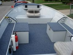 Aluminum Boat Fishing Conversation And Restoration – Vanchitecture - Boat accessories - Aluminum Fishing Boats, Aluminum Boat, Floating Boat Docks, John Boats, Boat Restoration, Boat Trailer, Trailer Plans, Boat Projects, Duck Boat
