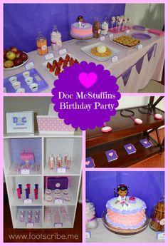 Doc McStuffins Children's Birthday Party Ideas