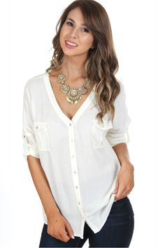 Criss-Cross Blouse Ivory ($28.99) #sophieandtrey #fall #fashion #trend #shop #muthave #trendy #lookbook #boutique #formal #social #sorority #homecoming #dressy #casual #prom #halloween #fall #diy #clothes #affordable #shoplocal #autumn #crafts #pumpkin #cuteclothes #adorable #freeshipping