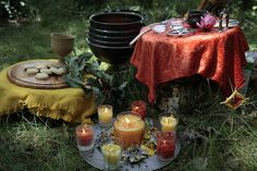 Wiccan Litha Altar by labybird.ladybird, via Flickr