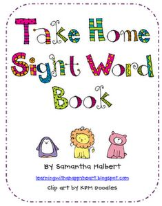 Take Home Sight Word Book with others