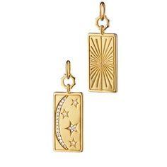 Moon Jewelry, Star Jewelry, Diamond Jewelry, Sun Moon Stars, Gold Medallion, House Gifts, Steel Chain, 18k Gold, Charmed
