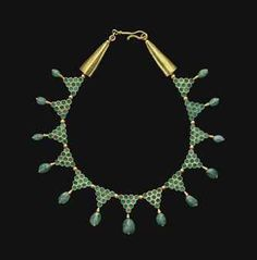 BYZANTINE GOLD AND EMERALD NECKLACE CIRCA 6TH-7TH CENTURY A.D.