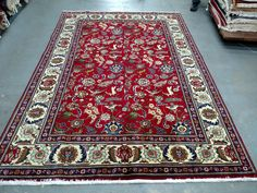 Persian Rug - 1980s Hand-Knotted Tabriz Rug (3361) by carpetshopprincess on Etsy