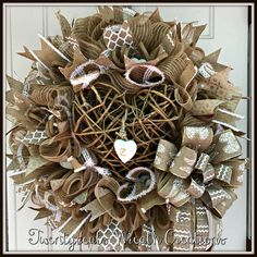 Deco Mesh Wreath for a mom whose son is in heaven. Titled: I carry your heart.I carry it in my heart by e. Wreath by Twentycoats Wreath Creations Creative Gift Packaging, Creative Gifts, Summer Decorating, Decorating Ideas, Craft Ideas, Crafts To Make And Sell, How To Make Wreaths, Diy Wreath, Burlap Wreath