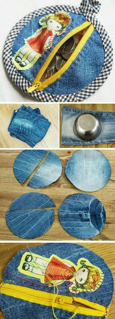 old-Jeans-the-bad-Geld-machen Geldbörsen Diy Bag and Purse diy purse making Sewing Tutorials, Sewing Hacks, Sewing Crafts, Sewing Projects, Sewing Patterns, Bag Tutorials, Purse Patterns, Diy Projects, Diy Bags Purses
