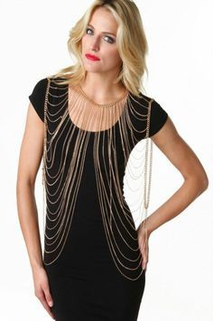 Draping Chain Body Chain in Gold