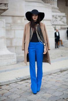 Look do dia | Calça Flare Azul
