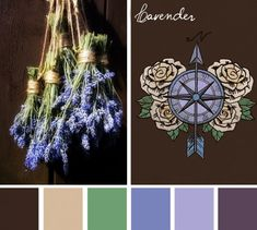 Design tip: Use a gorgeous photo to inspire a new color scheme for your designs. This design got a Rustic Lavender update. See how it compares to the original. Which do you prefer? Colour Pallette, Colour Schemes, Color Combos, Pallet Painting, Rustic Colors, Design Seeds, Shabby, Colour Board, Color Of Life