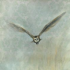 Incoming Owl - Barn Owl Painting - by Suzy Sharpe