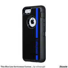 Thin Blue Line Serviceman Custom Name OtterBox iPhone 6/6s Case