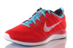 Nike Flyknit One For Womens RedBlue Size 9 * Learn more by visiting the image link.