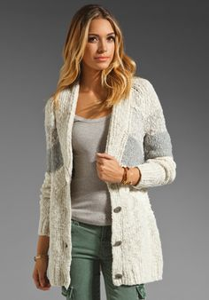 Free People Rocket High Cardi in Ivory Combo