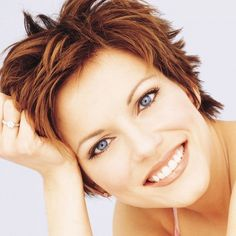 "Martina McBride- ""She's a vocal powerhouse and has amazing emotion when she sings. Also, ""Safe in the Arms of Love"" is one of my favorite songs. Funky Short Hair, Short Hair Cuts, Short Hair Styles, Short Pixie, Pixie Cut, Martina Mcbride, Pixie Hairstyles, Cool Hairstyles, Pixie Haircuts"