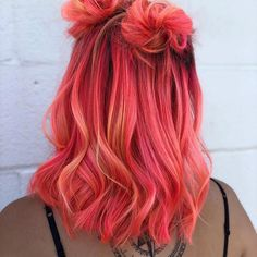Image about girl in 🌸Colorful Hair 🍭👑🌈 by 🦋 on We Heart It pink hair inspo Cute Hair Colors, Pretty Hair Color, Hair Dye Colors, Bright Hair Colors, Aesthetic Hair, Coloured Hair, Colored Girls, Pinterest Hair, Pinterest Account